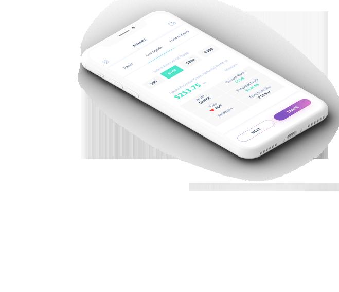 Aplicación para teléfono con balance de cuenta en la pantalla