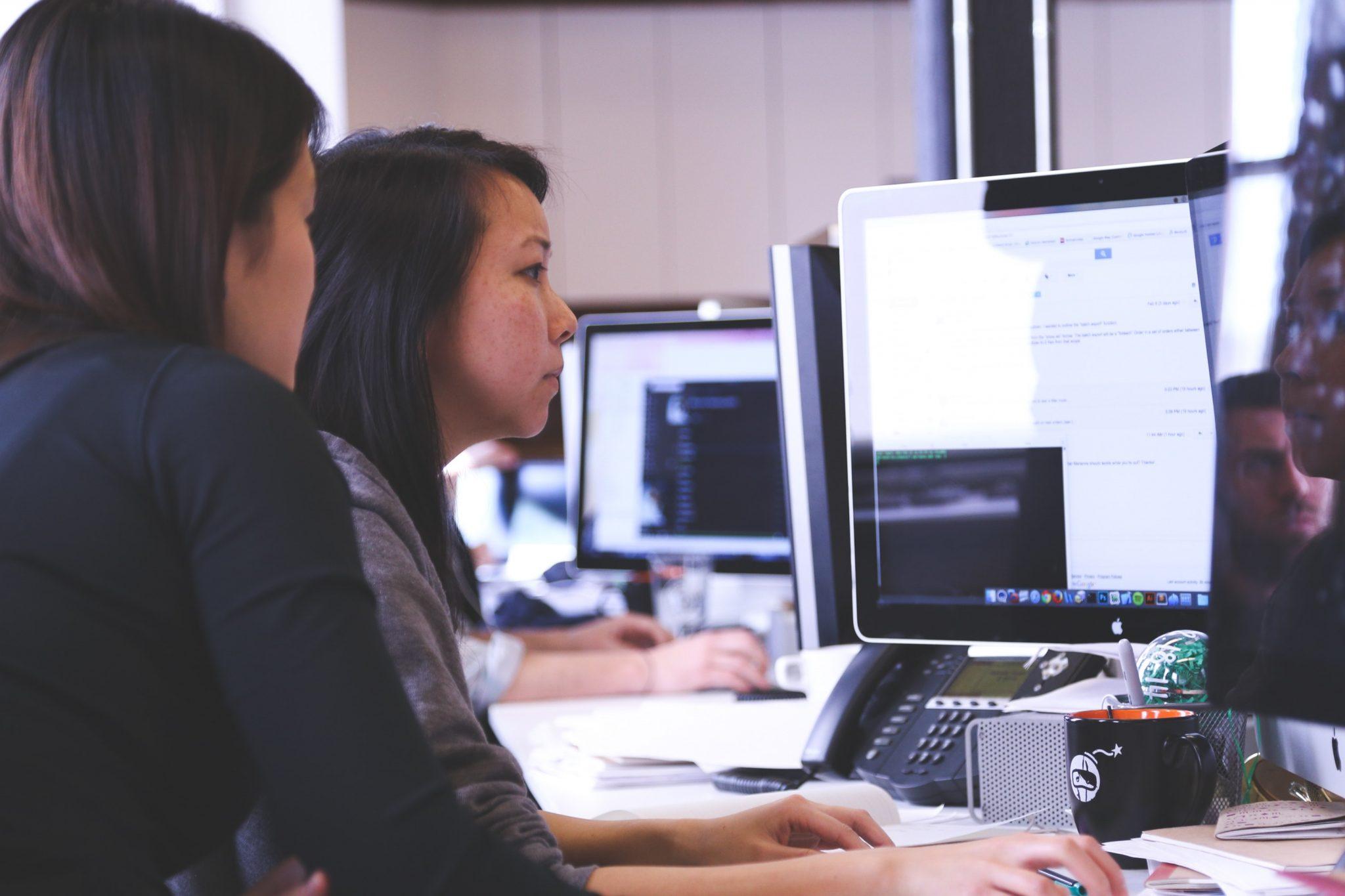 Equipo de profesionales trabajando en el desarrollo de una página web