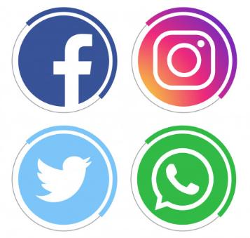 redes sociales logo circular