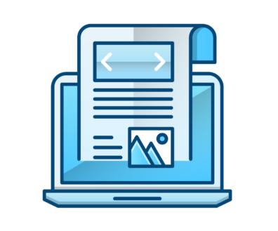 publicaciones de blog vector